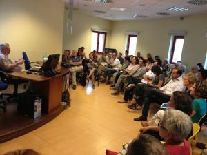 Una fotografia scattata durante la conferenza del Prof Coarelli tenuta sabato 22 giugno 2013 alla Biblioteca di Pomezia