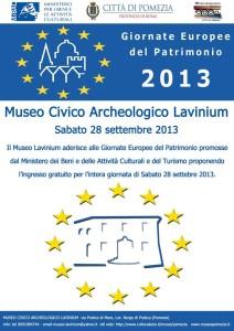 Locandina Lavinium - Giornate-Europee-del-patrimonio-2013