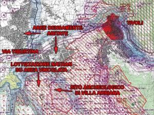 La Tavola B del PTPR della Regione Lazio con i vincoli. CLICCA PER INGRANDIRE