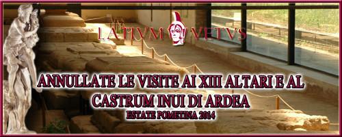 Header Volantino Annullate visite XIII Altari
