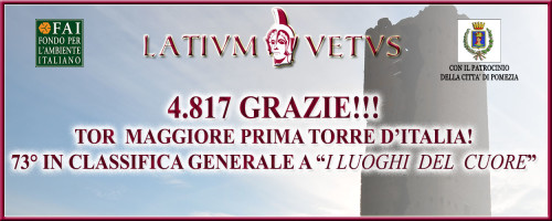Luoghi del Cuore: Tor Maggiore prima torre d'Italia!