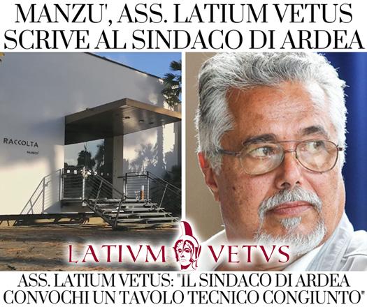 Manzù, Ass. Latium Vetus scrive al sindaco di Ardea. Convochi un tavolo tecnico.