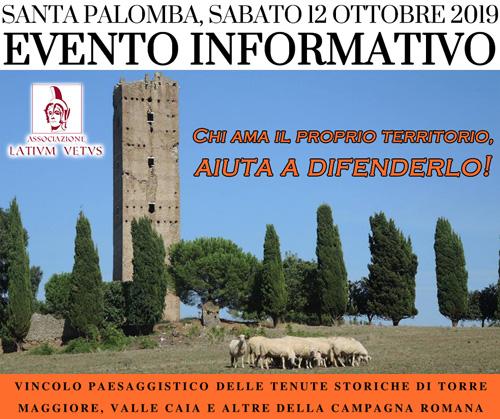 """""""Informiamo i cittadini!"""": Evento informativo a Santa Palomba (12.10.2019)"""