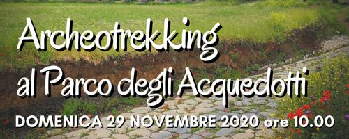 Archeotrekking al Parco degli Acquedotti domenica 29 novembre 2020