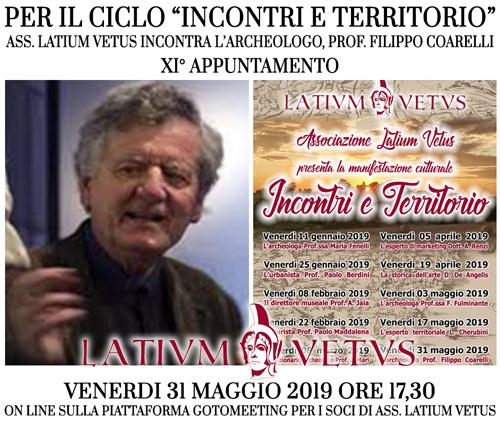 """Incontri e Territorio"": Latium Vetus incontra l'archeologo, Prof. Coarelli"