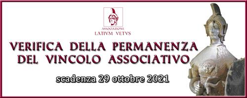 Verifica 2021 della permanenza del vincolo associativo
